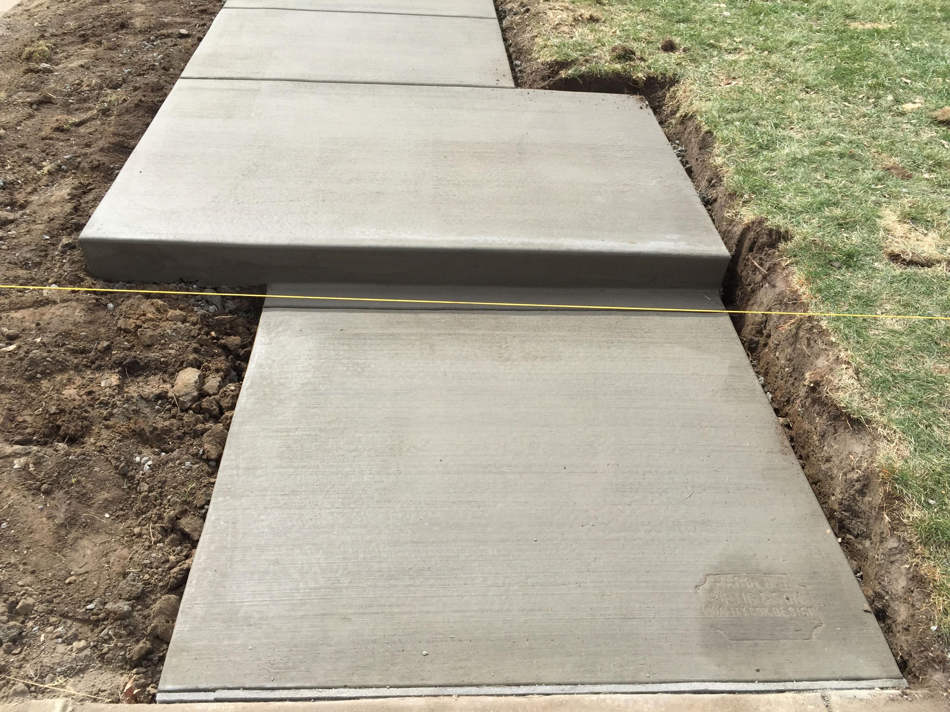 Concrete Stairs and Walkway - Harold J. Pietig & Sons, Inc.