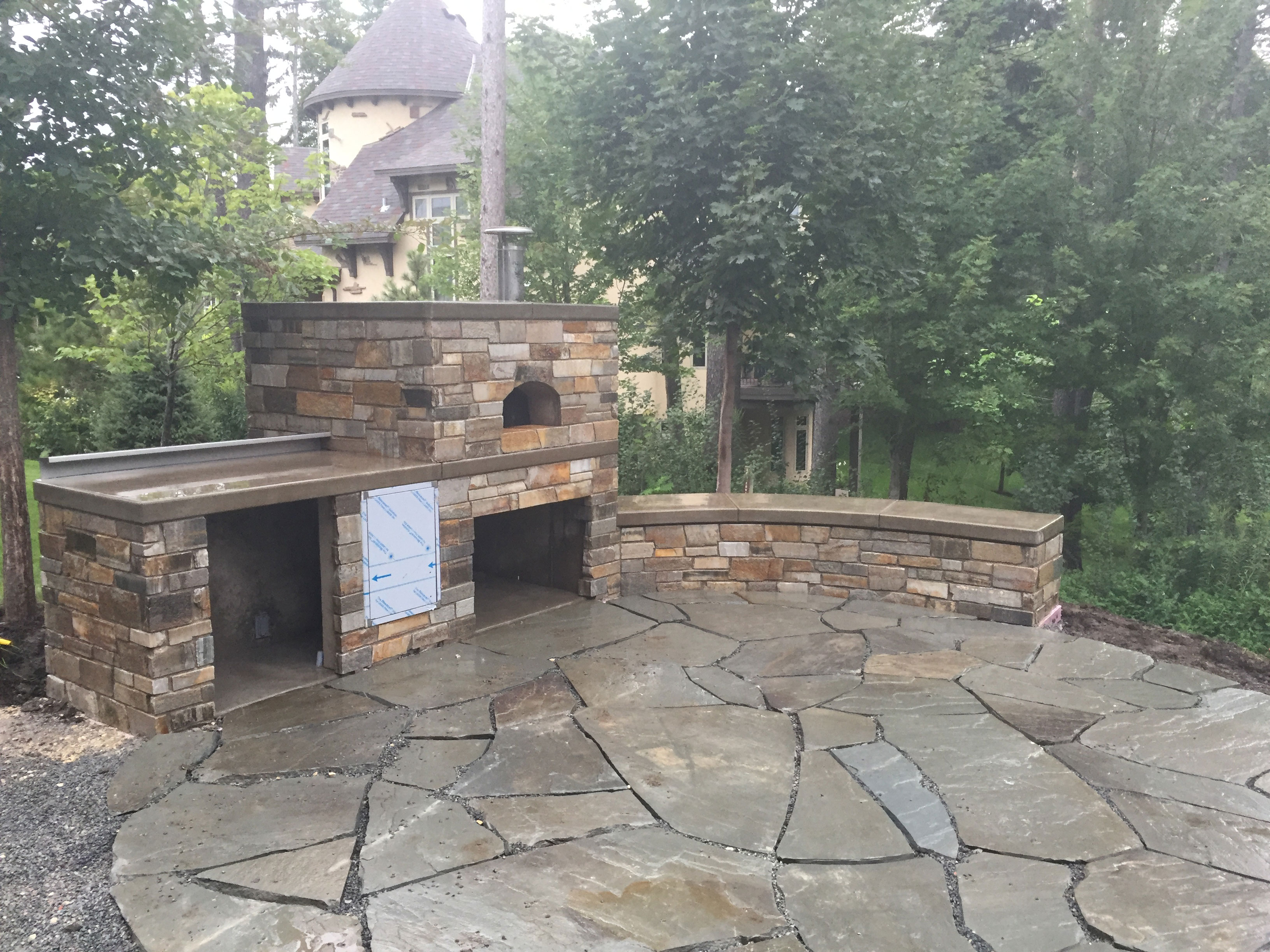 Outdoor Stone Patio and Fireplace Harold J Pietig Sons Inc