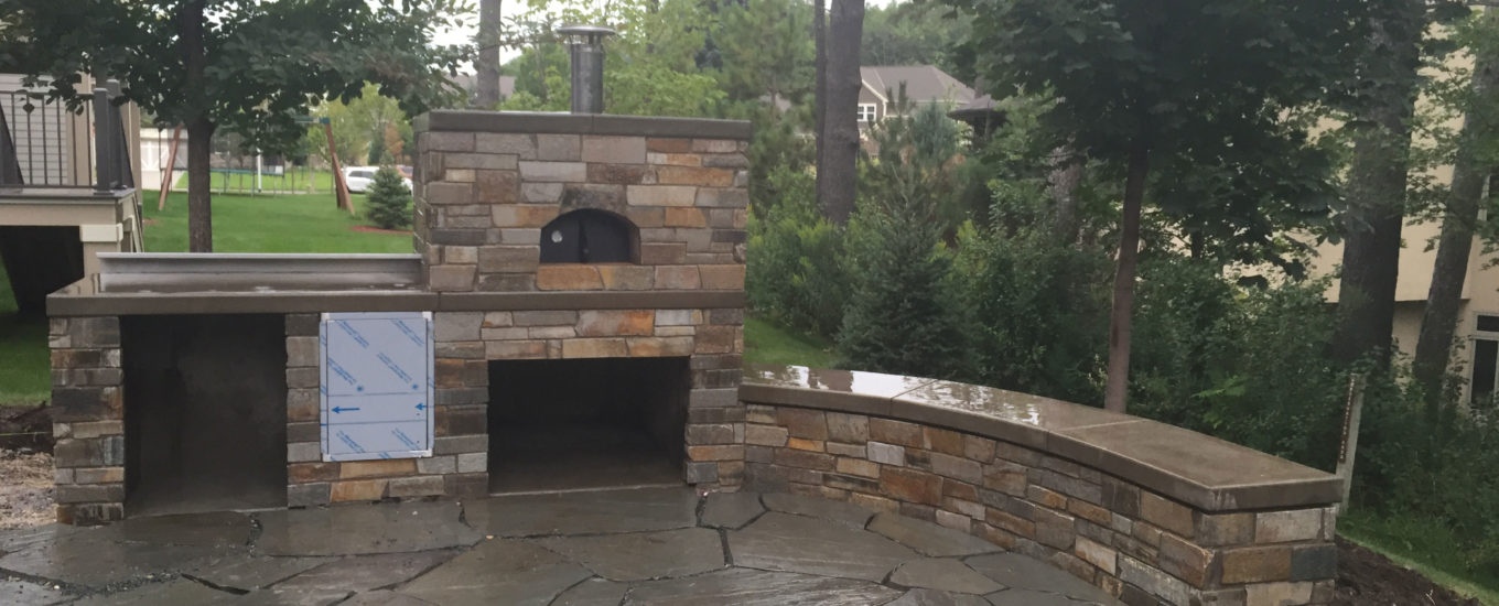 Outdoor Stone Patio And Fireplace Harold J Pietig